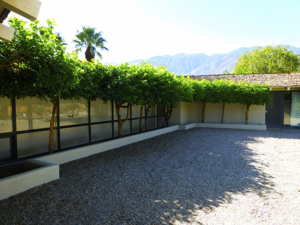 Gracious courtyard