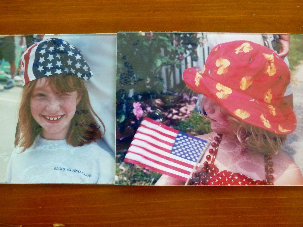 Vintage pictures of my girls at the 4th of July parade