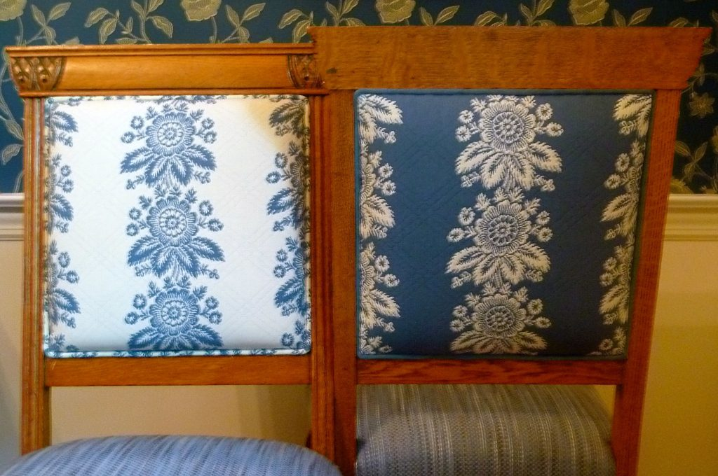 Front and back of chairs
